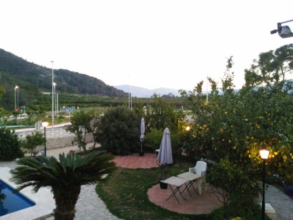 The view from the Villa Florencia dinning terrace